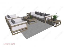 组合沙发0008-SketchUp草图大师模型