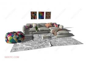 客厅整体软装00125-SketchUp草图大师模型