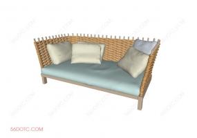 沙发000160-SketchUp草图大师模型