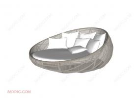 沙发000163-SketchUp草图大师模型