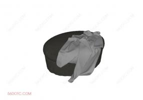 沙发000164-SketchUp草图大师模型:沙发墩