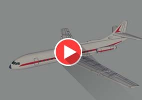 SketchUp建模教程|喷气式客机