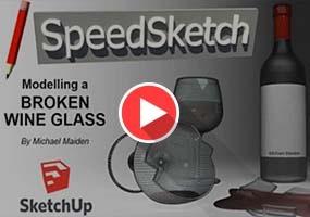 SketchUp无插件建模系列教程|破碎的红酒杯