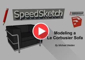 SketchUp无插件建模系列教程|沙发