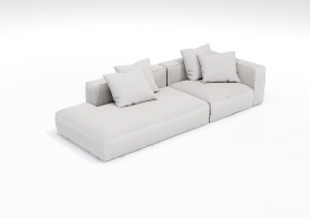 沙发000105-SketchUp草图大师模型_Enscape材质