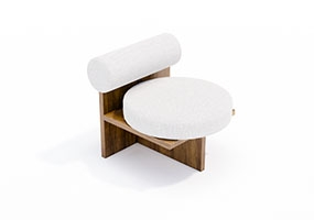 椅子000109-SketchUp草图大师模型_Enscape材质
