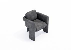 椅子000134-SketchUp草图大师模型_Enscape材质