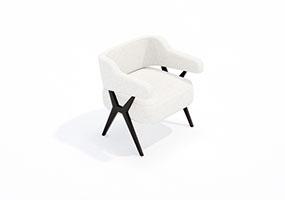 椅子000135-SketchUp草图大师模型_Enscape材质
