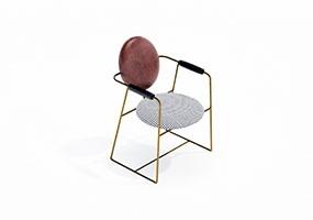 椅子000145-SketchUp草图大师模型_Enscape材质